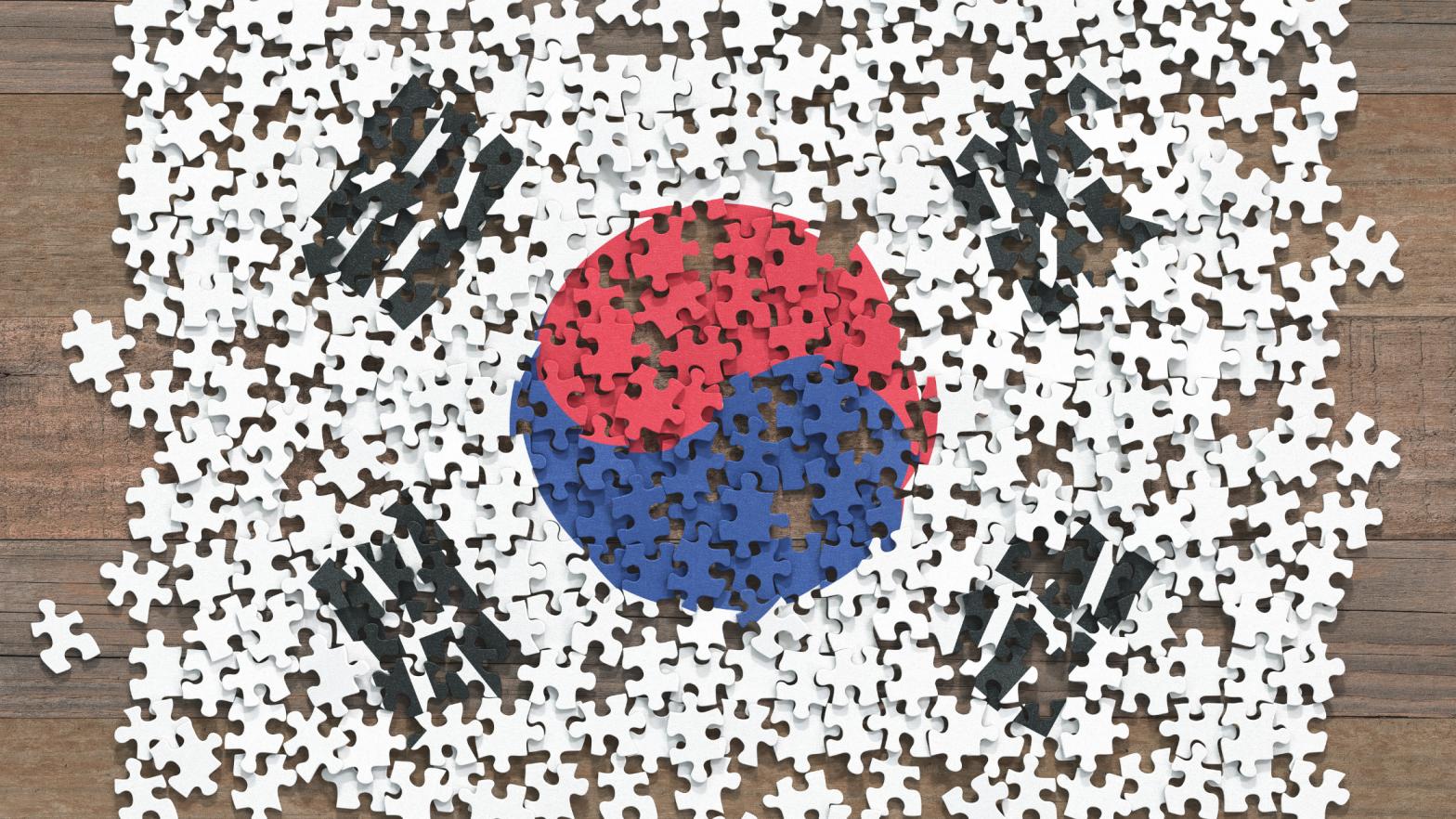 Korean Flag as a puzzle